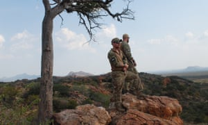 US military veterans patrol a reserve in Limpopo province