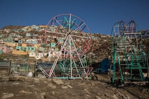 An empty playground in west Kabul