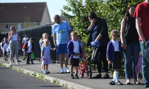 Children return to school on Monday in Costessey, Norfolk