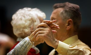 Pensioners Take Part In A Local Tea Dance