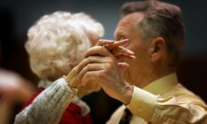 Pensioners at a tea dance.
