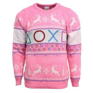 acfc3dc0278 A pink PlayStation Christmas jumper - you can get this half-price today.