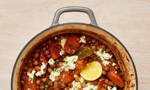Yotam Ottolenghi's braised chickpeas with carrots, dates and feta.