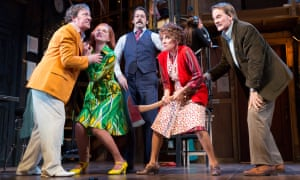 Noises Off: the actors don't seem as though they're in the same play, or even the same play within a play.