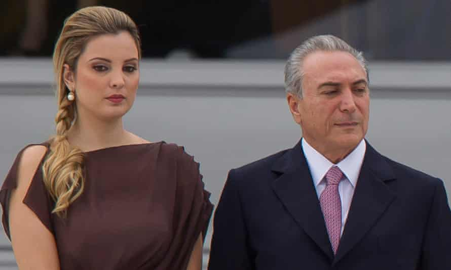 Marcela Temer and Michel Temer, seen during the inauguration ceremony of Dilma Rousseff.