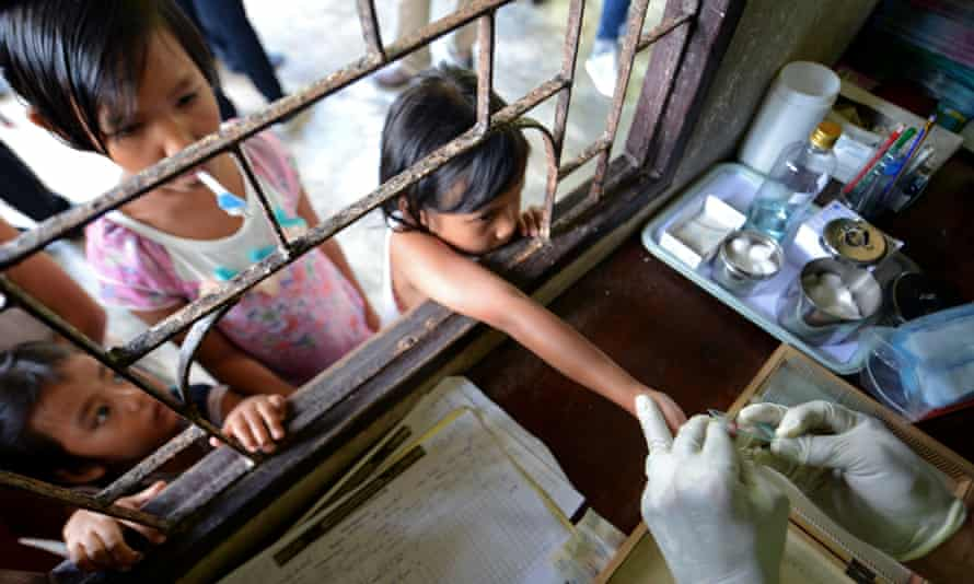 Children at a malaria clinic near the Thai-Myanmar border. Malaria kills nearly half a million people a year – mostly children and pregnant women.