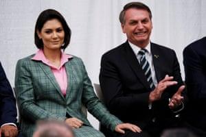 Jair Bolsonaro and wife Michelle