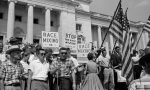 A pro-segregation rally in Little Rock, Arkansas, during the 1960s.