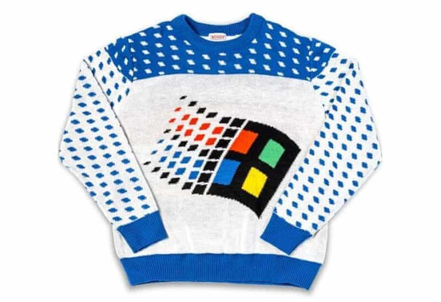 Microsoft has its own nostalgic Christmas sweater.