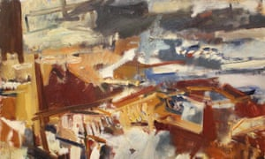 Detail from Greenwich from the Roof of the Royal Observatory, 1958, by Dennis Creffield.