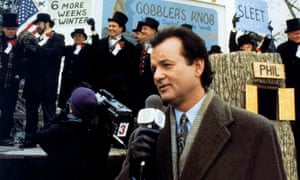Bill Murray in Groundhog Day. The star of the 1993 movie has gone to see the Broadway play based on the film – twice.