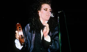 Pete Burns singing with Dead Or Alive in 1985.