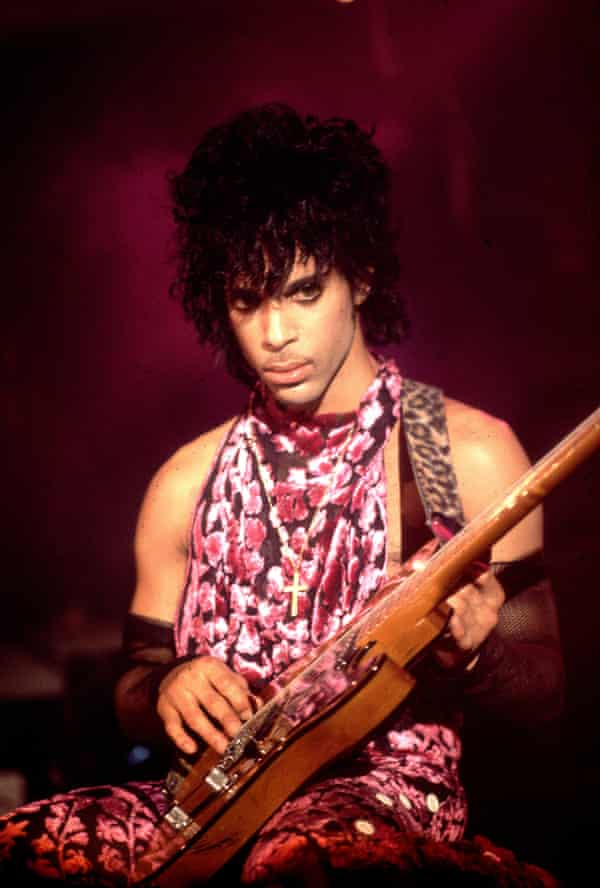 Prince celebrating his birthday and the release of Purple Rain in Minneapolis in 1984.