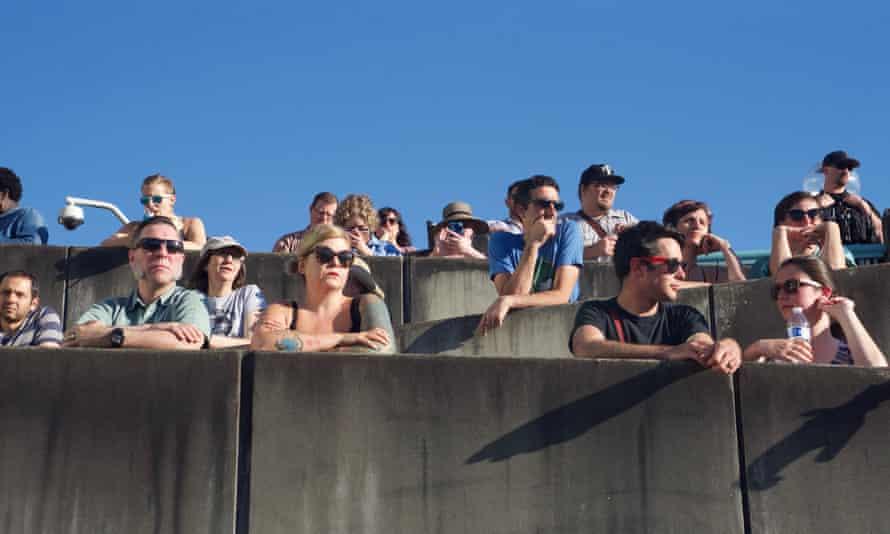 A crowd at the vigil in Portland, Oregon, for Ricky John Best and Taliesin Myrddin Namkai Meche.