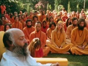 The guru Bhagwan Shree Rajneesh in a still from Wild Wild Country