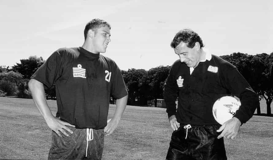 Alan Nicholls with Peter Shilton