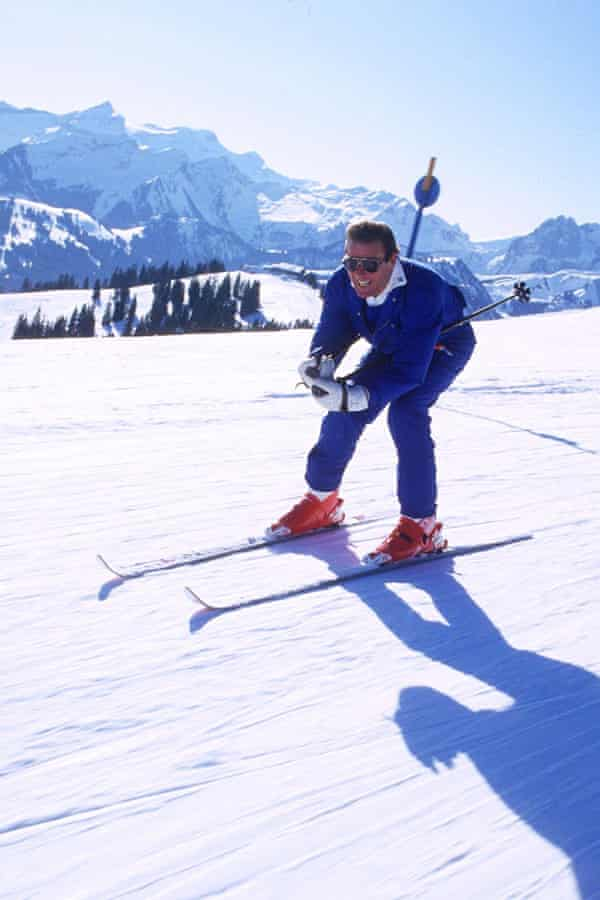 Roger Moore in Gstaad.