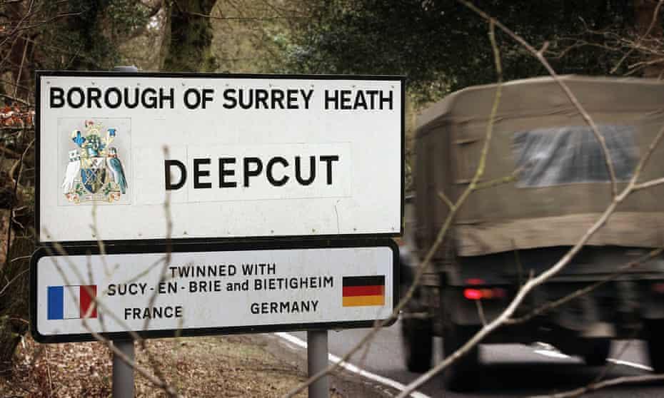 The village of Deepcut in Surrey