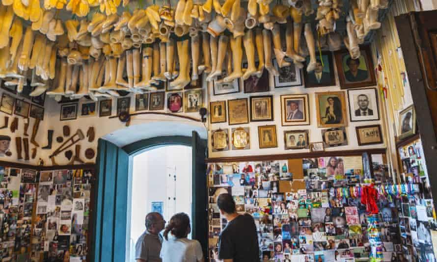 Ex-voto plastic body parts in Bonfim church, Salvador.