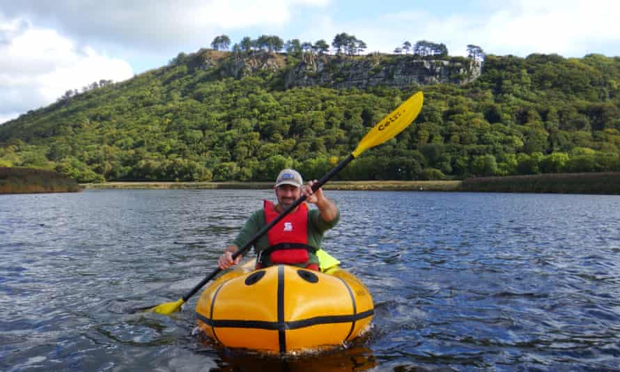 Tirio packrafting. River Conwy Mountains to sea packraft