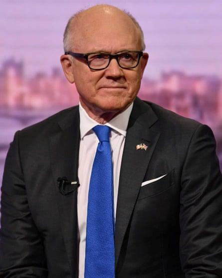 Woody Johnson, US ambassador.
