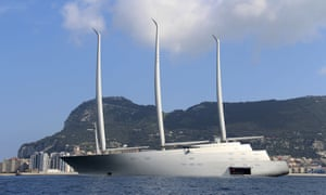 Sailing Yacht A detained over debt claim of€15m in Gibraltar.