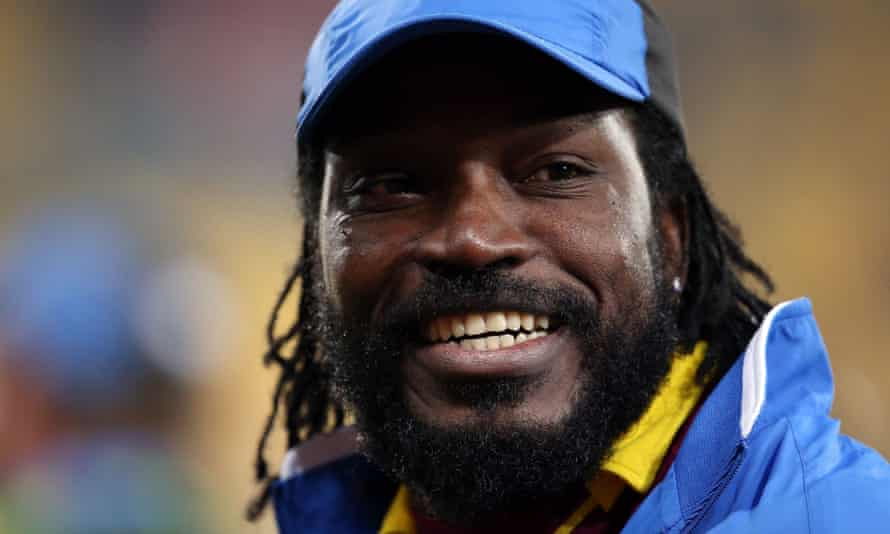 Chris Gayle playing for the West Indies in March 2015.