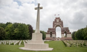 The Thiepval Memorial to the Missing of the Somme.