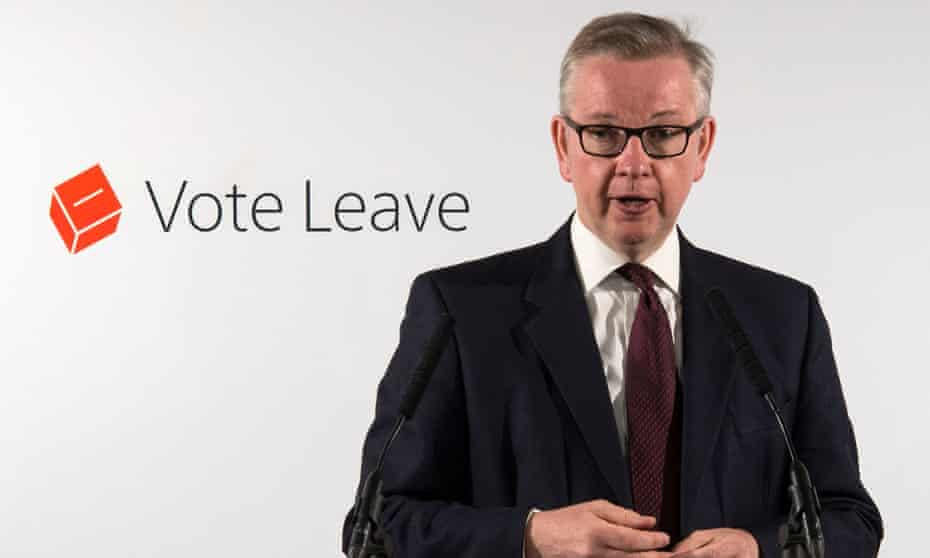 Michael Gove, the justice secretary, fronts the Vote Leave campaign.