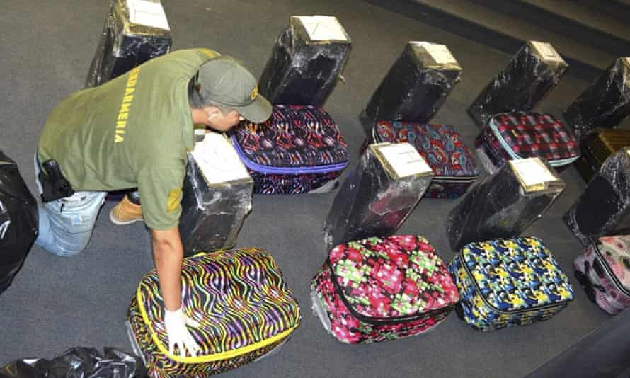 Sixteen pieces of luggage were found to contain cocaine