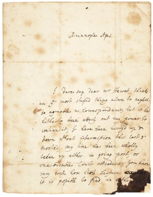 The only surviving autograph letter by Lady Mary Wortley Montagu written from Turkey in 1717.
