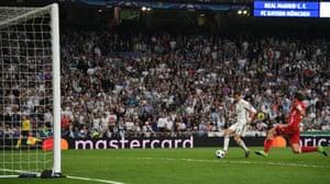 Ronaldo scores his hat-trick.