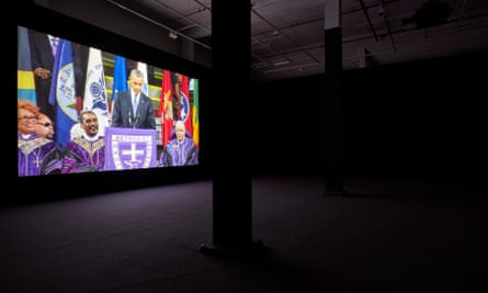 A video installation at Jafa's exhibition at the Serpentine Sackler Gallery