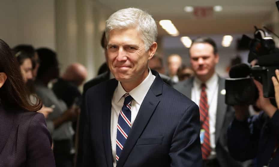 Judge Neil Gorsuch has promised to be a 'faithful servant' of the constitution.