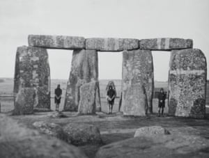 Angus McBean and kinsmen at Stonehenge, Wessex pilgrimage, 1929