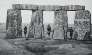 Kibbo Kift kinsmen on a pilgrimage to Stonehenge, 1929.