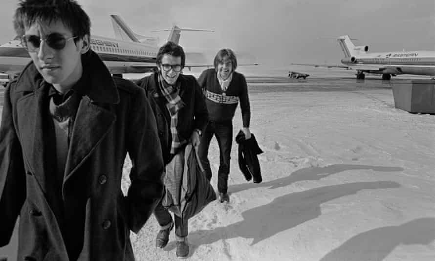 Elvis Costello (centre) with the Attractions