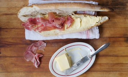 Ham sandwich in a French bar by David Tanis.