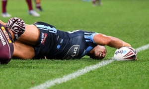 Tyson Frizell just gets over the line.