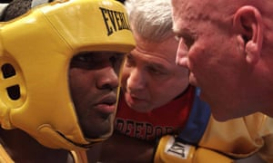 Titus Williams and coach Joe Higgins in Cradle of Champions.