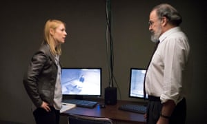 Claire Danes as Carrie Mathison and Mandy Patinkin as Saul Berenson