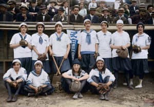 The New York Female Giants team in 1913.