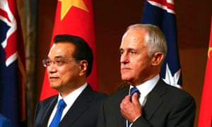 Chinese premier Li Keqiang told Malcolm Turnbull that Beijing respects Australia's foreign policy.