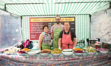 Berwick Street market is now a hybrid of 'traditional' traders and hot food stalls.