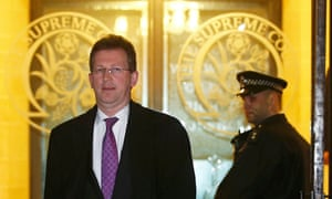Jeremy Wright leaves the supreme court in London