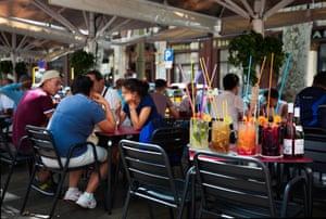 A cafe-bar on La Ramblas.