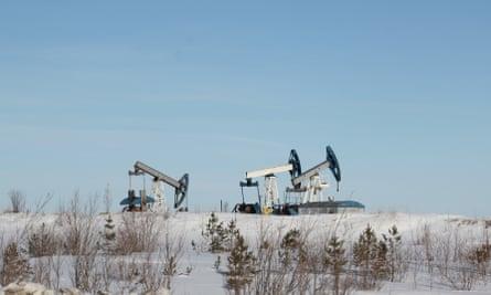 Oil excavation near Kechimov's home.
