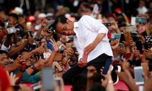 Indonesia's presidential incumbent Joko Widodo.