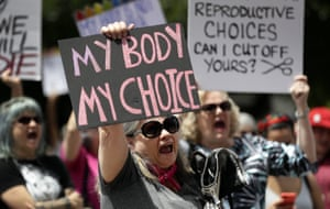 A group gathers to protest abortion restrictions at the state capitol in Austin, Texas, on 21 March 2019.