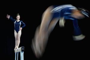 Competitors in the Australian Gymnastics Championships in Melbourne, Australia